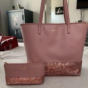 Kate Spade bag and cosmetic bag